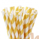 "Cakepop Papierhalme ""Yellow Stripes"""